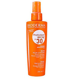 Bioderma, Photoderm Bronz, Spray Solaire SPF30/UVA16 (Spray do opalania SPF30- wysoka ochrona)